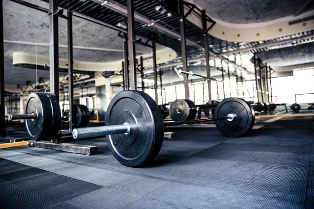 Closeup image of a gym interior with equipment
